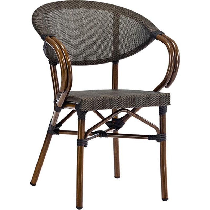 ... Our Magellan Outdoor Cast Aluminum Arm Chair With Bamboo Finish Is On  Sale Now.