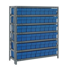 7 Shelf Open Unit with 54 Drawers - Blue