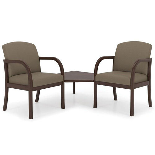 Our Weston Series Guest Chairs with Connecting Corner Table is on sale now.