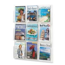 Safco Magazine Display Rack - 9 Pockets - 30