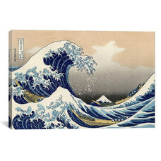 The Great Wave at Kanagawa, 1829 by Katsushika Hokusai Gallery Wrapped Canvas Artwork