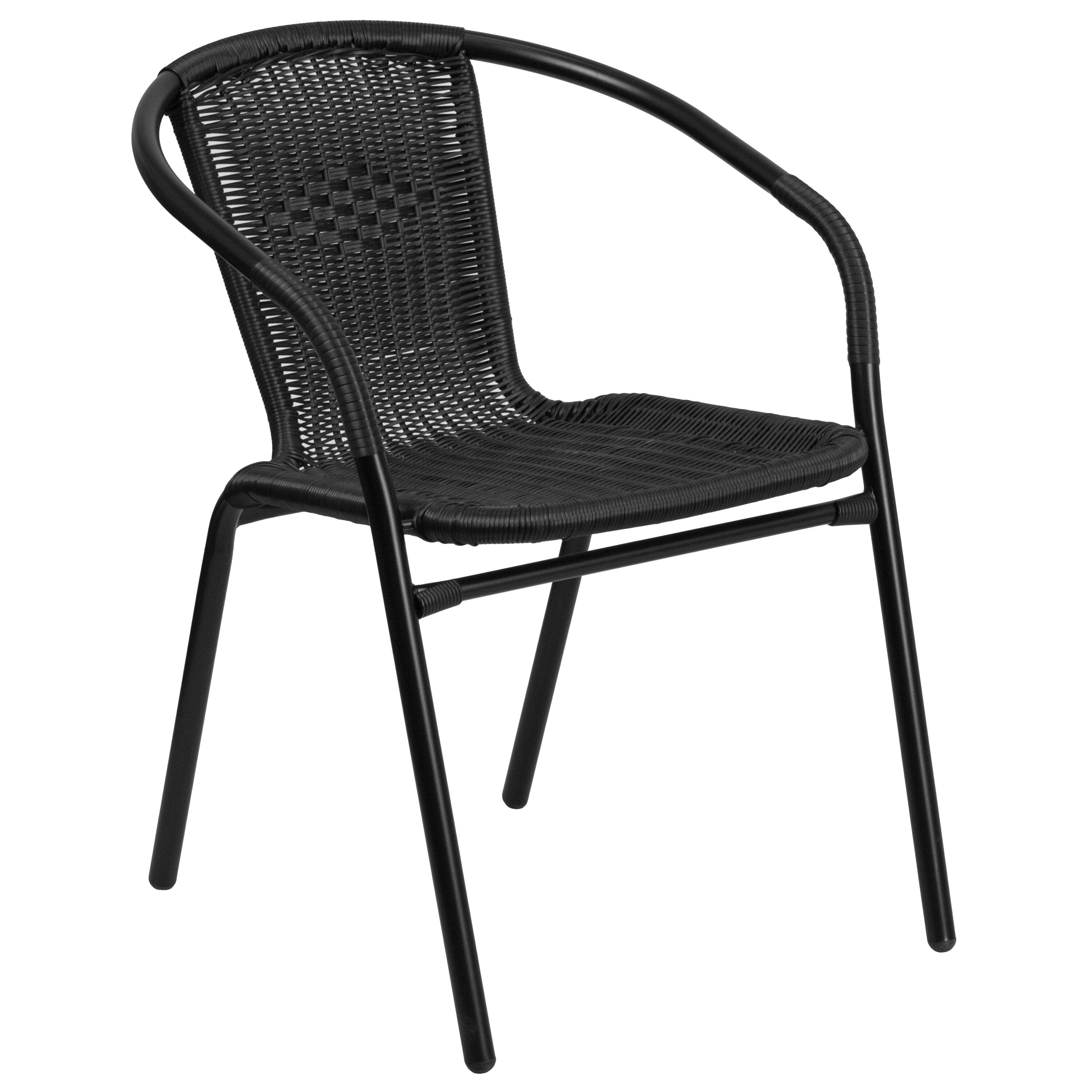 ... Our Black Rattan Indoor Outdoor Restaurant Stack Chair Is On Sale Now.