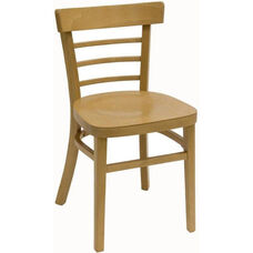 Steak House Wood Guest Chair - Natural Finish