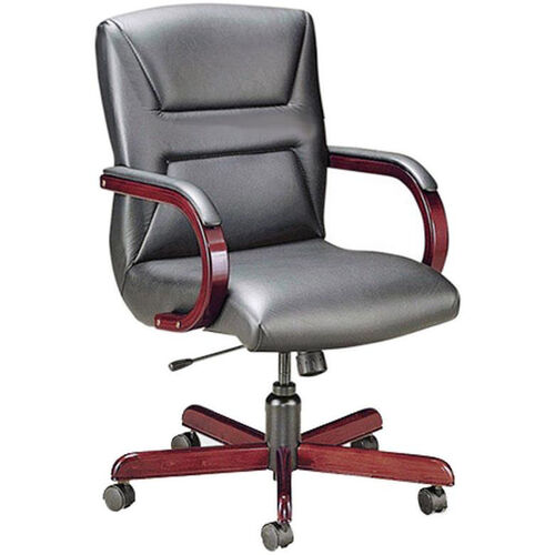 Our Quick Ship Quick Silver Management Swivel Chair with Trapezoid Back Stitching is on sale now.