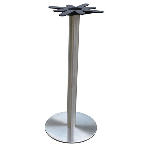 Stainless Steel Round Bar Height Table Base with 18