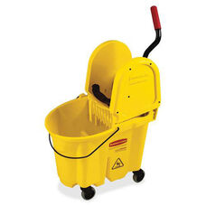Rubbermaid Commercial Products WaveBrake Down Press Combo Mop Bucket - 15.7