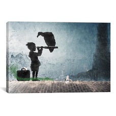 Boy and His Vulture by 5by5collective Gallery Wrapped Canvas Artwork