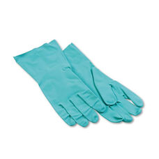 Boardwalk® Nitrile Flock-Lined Gloves - Large - Green - Dozen