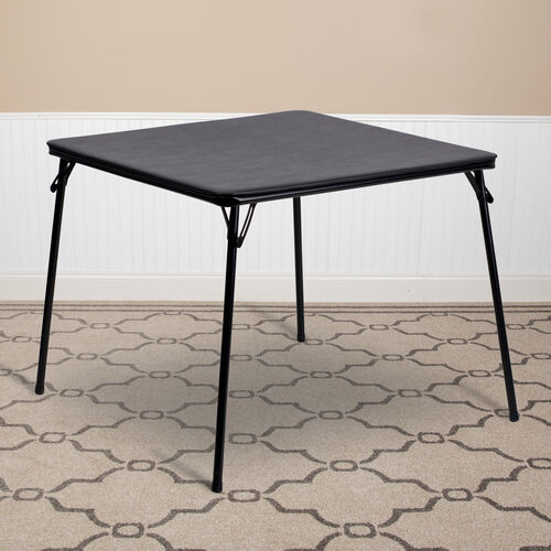 Our Black Folding Card Table is on sale now.