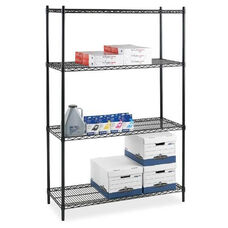 Lorell Starter Shelving Unit - 4 Shelves/4 Posts - 24