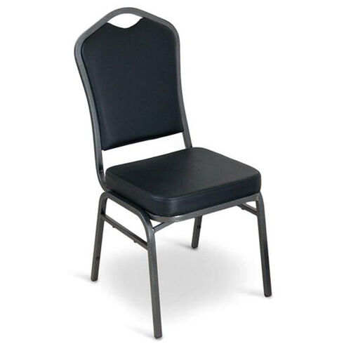 Our Superb Seating Heavy-Duty Steel Frame Vinyl Upholstered Stacking Chair - Black is on sale now.