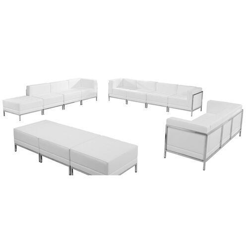 Our HERCULES Imagination Series Melrose White LeatherSoft Sofa, Lounge & Ottoman Set, 12 Pieces is on sale now.