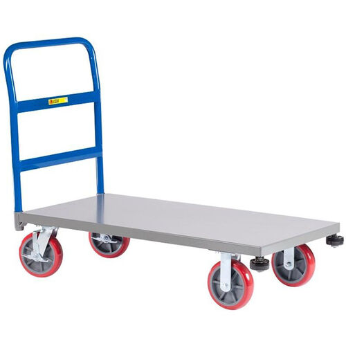 Our Heavy-Duty Single Handle Platform Truck with Rolling Corner Bumpers - 24