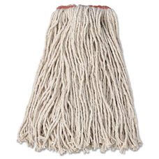 Rubbermaid® Commercial Premium Cut-End Cotton Wet Mop Head - 16oz - White - 1