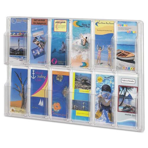 Our Safco® Reveal Clear Literature Displays - 12 Compartments - 30 w x 2d x 20 1/4h - Clear is on sale now.