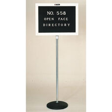 558 Series Open Face Adjustable Height Freestanding Directory - 20