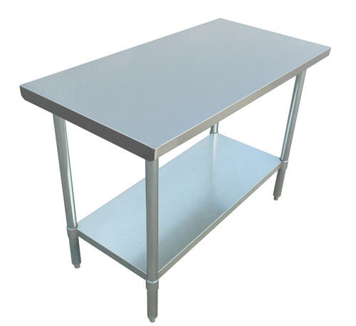 "Our Adcraft WT-2448-E 24""x48"" Stainless Steel Work Table is on sale now."