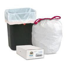 Genuine Joe Drawstring Trash Can Liners - 16 Gal. - 60 per Box - White