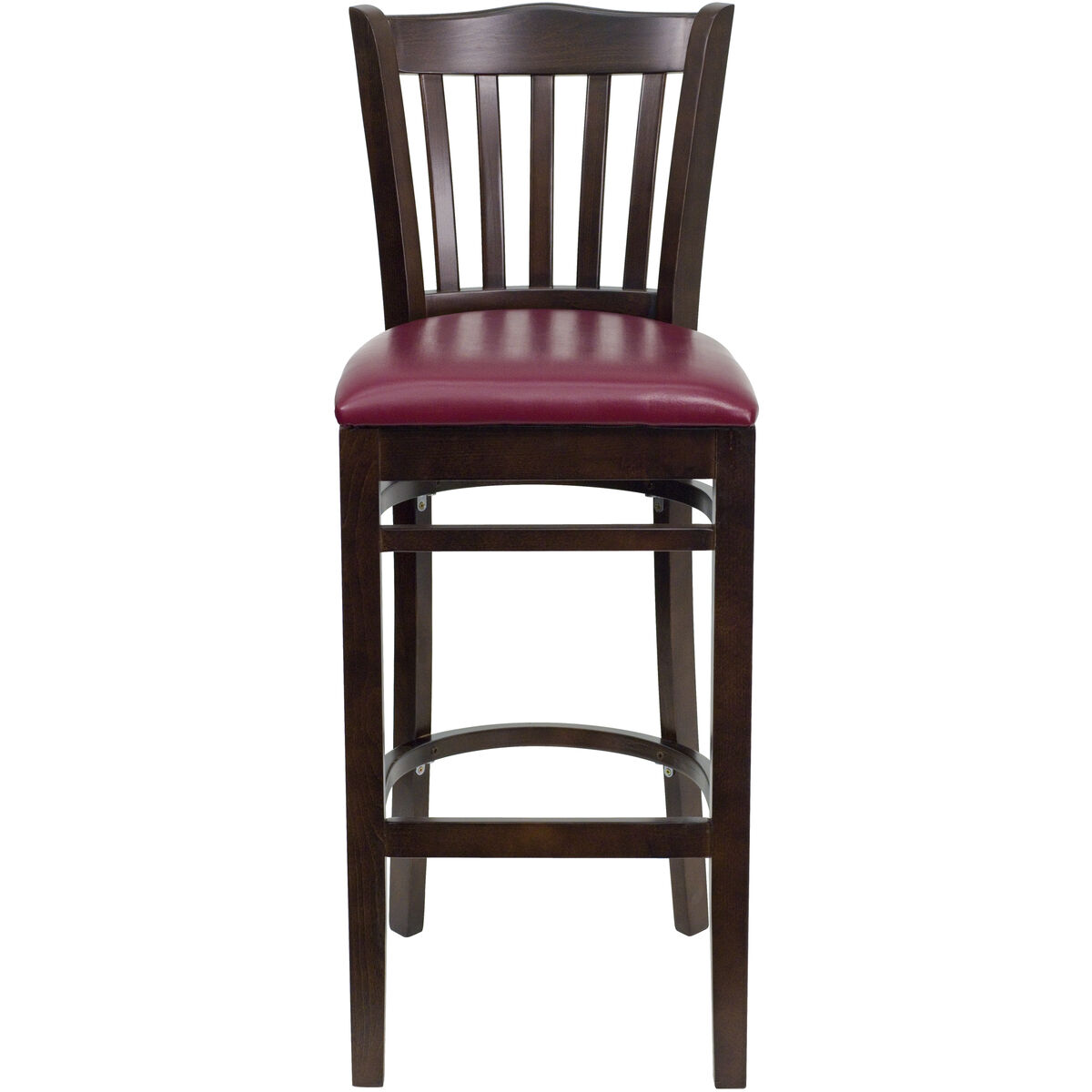 Walnut wood stool burg vinyl bfdh wby bar tdr