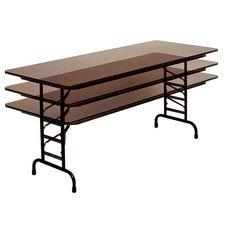 Adjustable Height Rectangular High-Pressure Top Folding Table - 96