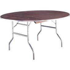 Standard Series 36'' Round Folding Banquet Table with Plywood Top