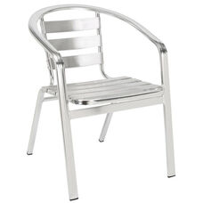 Slat Back & Seat Aluminum Chair