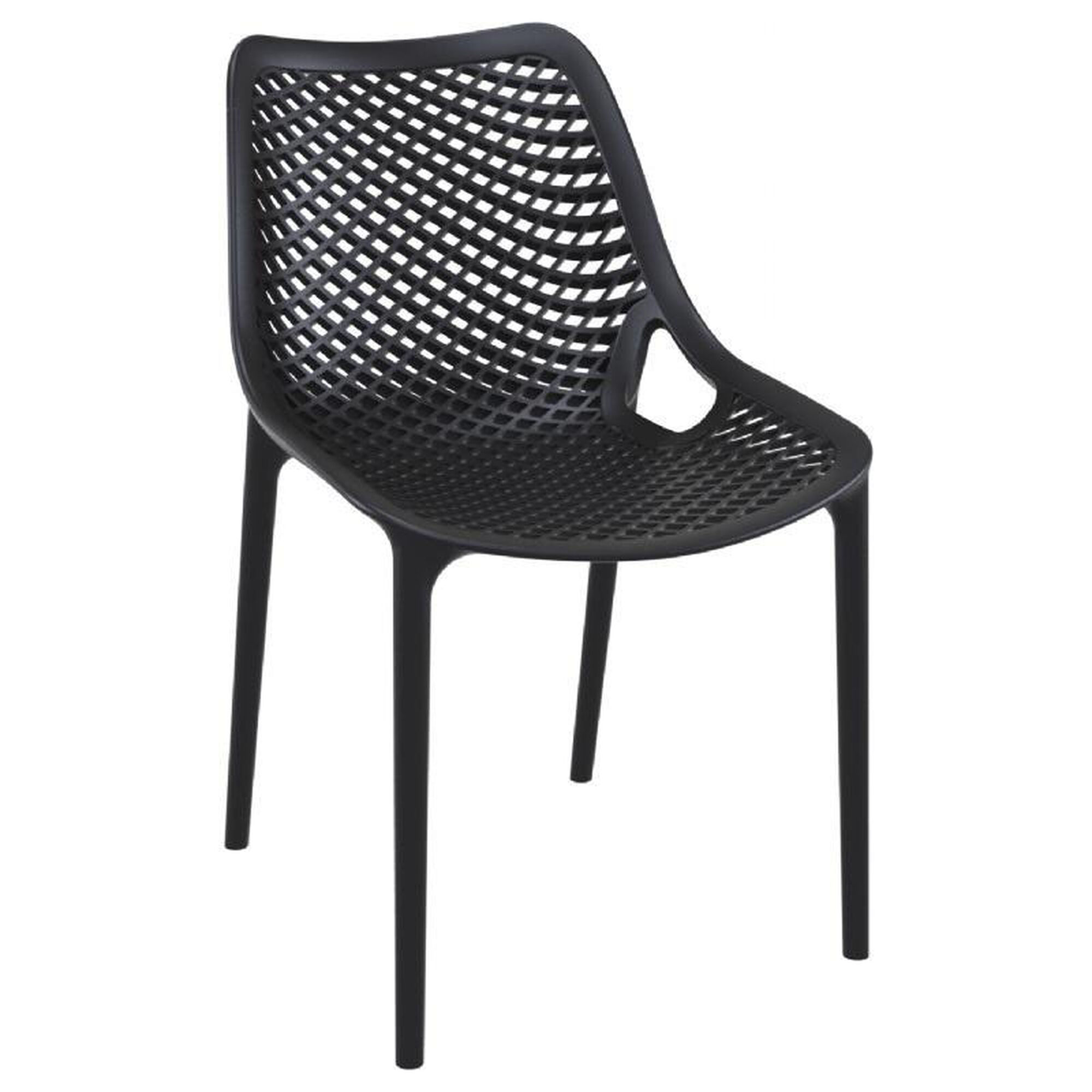 Black Resin Outdoor Dining Chair ISP014-BLA ...