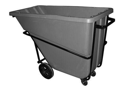 """Our Bayhead 5/8 Cubic Yard Heavy Duty Tilt Truck 1500lb Capacity - 4"""" casters, Gray is on sale now."""