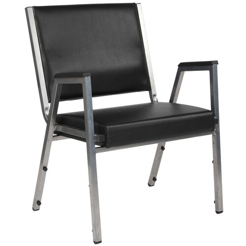Our HERCULES Series 1500 lb. Rated Black Antimicrobial Vinyl Bariatric Antimicrobial Medical Reception Arm Chair is on sale now.