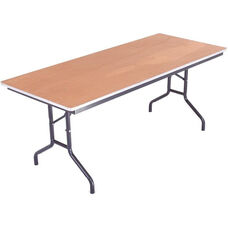 Sealed and Stained Plywood Top Table with Aluminum T - Molding Edge - 30''W x 60''D x 29''H