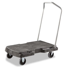 Rubbermaid® Commercial Triple Trolley - 500-lb Cap - 20-1/2w x 32-1/2d x 7h - Black