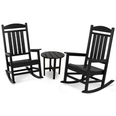 POLYWOOD® Presidential 3-Pc. Rocker Set - Black