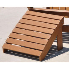 Traditional Recycled Plastic Adirondack Ottoman in Cedar