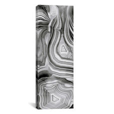 Agate Panel Grey III by Danielle Carson Gallery Wrapped Canvas Artwork