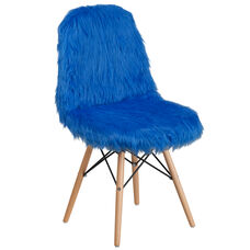Shaggy Dog Cobalt Blue Accent Chair
