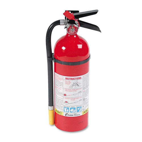 Our Kidde ProLine Pro 5 MP Fire Extinguisher - 3 A - 40 B:C - 195psi - 16.07h x 4.5 dia - 5lb is on sale now.
