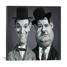 Vintage Celebrity Sunday Series: Laurel & Hardy by Rob Snow Gallery Wrapped Canvas Artwork - 18