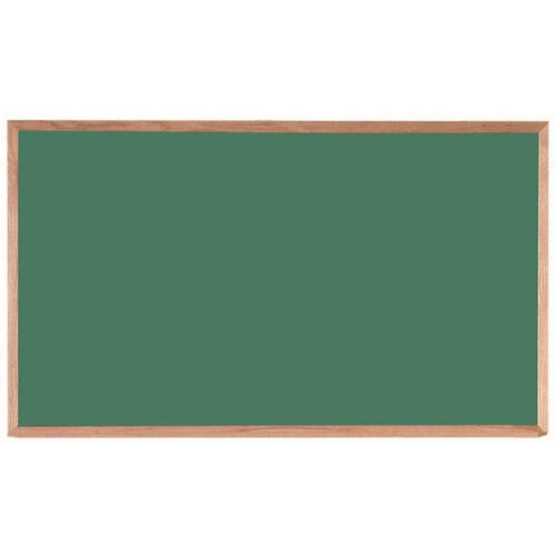 Our Green Composition Chalkboard with Red Oak Frame and Chalk Tray - 36