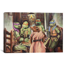 The Pizza Eaters by Hillary White Gallery Wrapped Canvas Artwork - 26