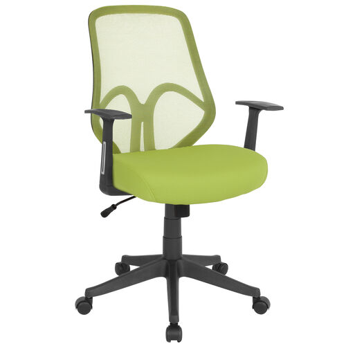 Salerno Series High Back Green Mesh Office Chair with Arms