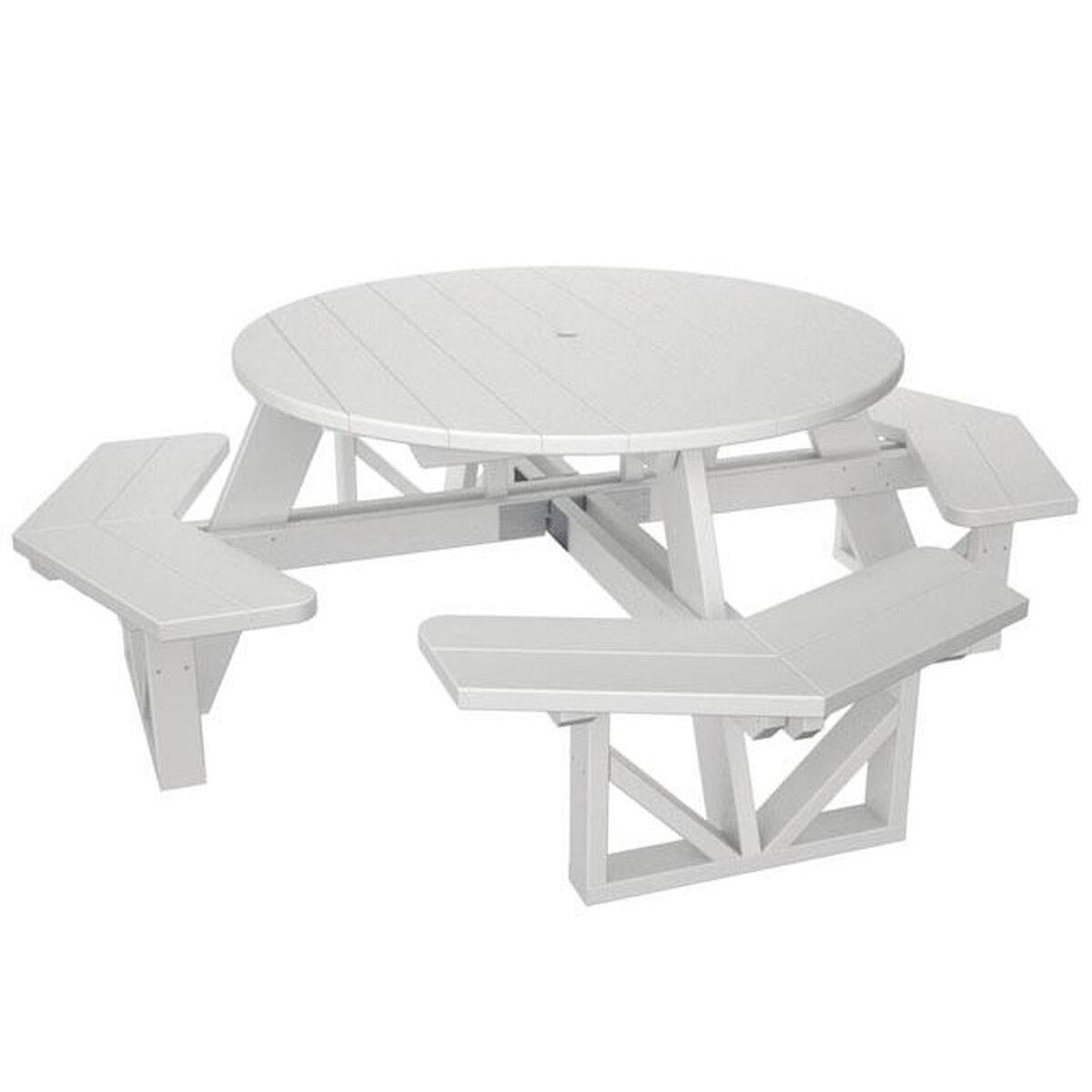White Octagon Park Table PHWH RestaurantFurnitureLesscom - Octagon picnic table for sale