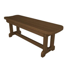 POLYWOOD® Commercial Collection Park Backless Bench - Teak