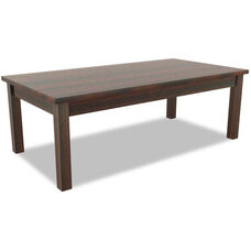 Alera® Valencia Series Rectangular Occasional Table - 47.25''W x 20''D x 16.38''H - Mahogany