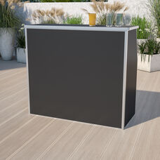 4' Black Laminate Foldable Bar - Portable Event Bar