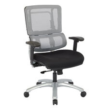 Pro-Line II Vertical Mesh Back Office Chair with Silver Base - Grey and Black