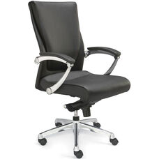 Luxo Conference Chair with LeatherSoft Upholstery - Black
