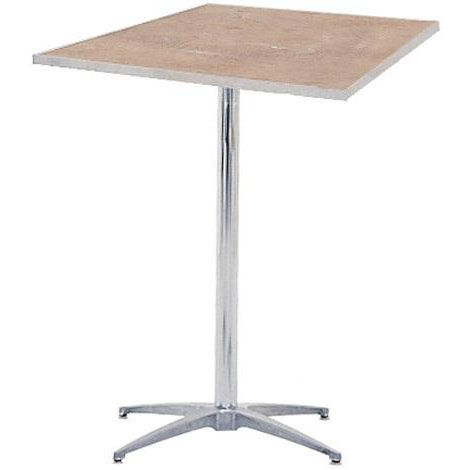 ... Our Standard Series Square Pedestal Table With Chrome Plated Steel  Column And Plywood Top   30