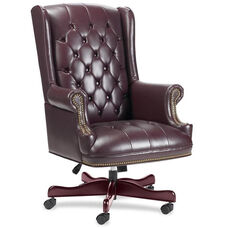 Lorell Berkeley Series Executive High Back Tufted Chair