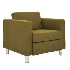 Ave Six Pacific Arm Chair with Chrome Finish Legs - Green