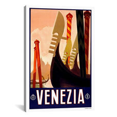 Venezia Advertising Vintage Poster by Unknown Artist Gallery Wrapped Canvas Artwork